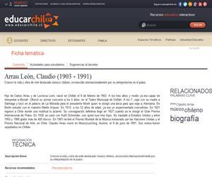 Arrau León, Claudio (1903 - 1991) (Educarchile)