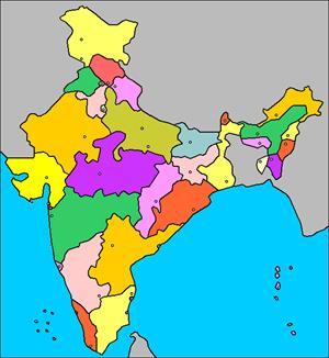 Mapa interactivo de la India: división política y capitales (luventicus.org)