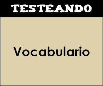 Vocabulario. 1º Primaria - Lengua (Testeando)