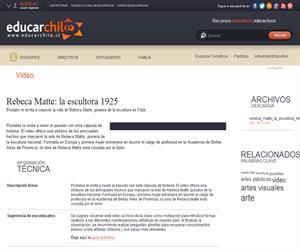 Rebeca Matte: la escultora 1925 (Educarchile)