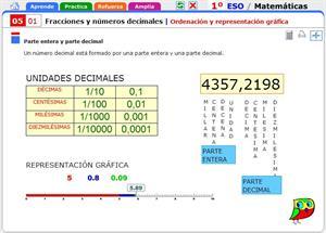 Ordenación y representación gráfica. Matemáticas para 1º de Secundaria.