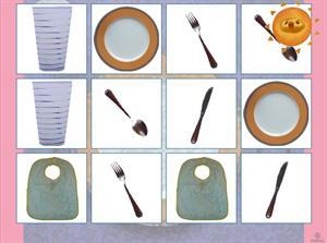 Aprendemos los cubiertos. Juego para Educación Infantil (jugarjuntos.com)