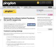 Exploring the software behind Facebook, the world's largest site | Royal Pingdom