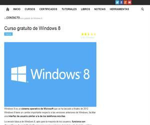 Curso Gratuito de Windows 8 en Educación