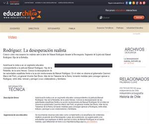 Rodríguez: La desesperación realista (Educarchile)