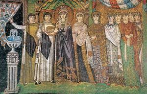 La emperatriz Teodora y su séquito. Comentario.