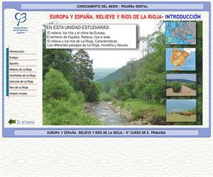 Europa y España. Relieve y ríos de La Rioja – Conocimiento del medio – 3º Ciclo de E. Primaria – Unidad didáctica.