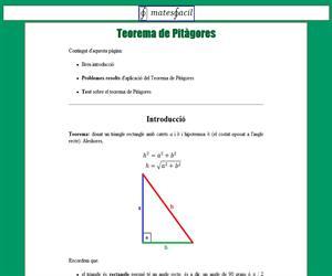 Teorema de Pitàgores (test i problemes)
