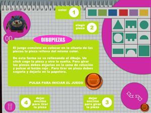 Dibupiezas: formas, colores y manejo de ratón (Jugarjuntos.com)