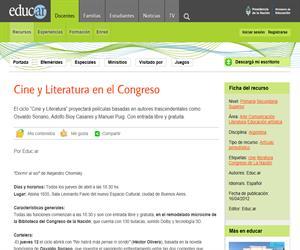 Cine y Literatura en el Congreso