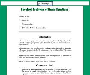 Resolved Problems of Linear Equations