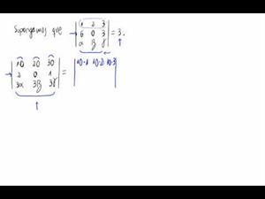 Cálculo de un determinante aplicando propiedades