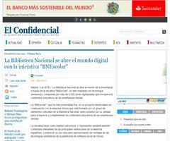 """El Confidencial: La Biblioteca Nacional se abre el mundo digital con la iniciativa """"BNEscolar"""""""
