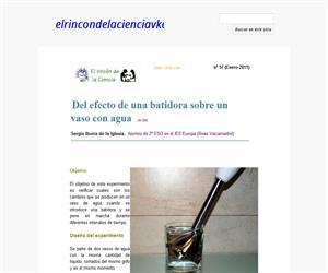 Del efecto de una batidora sobre un vaso con agua