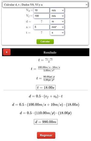 Calculadora de movimiento rectilíneo uniformemente acelerado