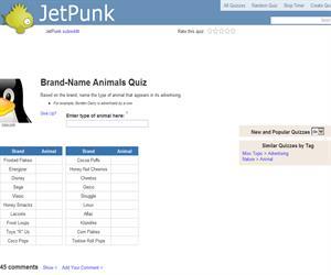 Brand-Name Animals Quiz