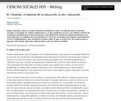 Noam Chomsky critica el actual sistema de enseñanza | Weblog Ciencias Sociales Hoy