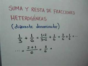 Suma y resta de fracciones heterogéneas. Parte 1 de 2 (JulioProfe)