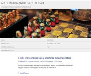 6 webs imprescindibles para la enseñanza de las matemáticas (MatemaTICzando la realidad)