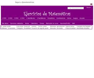 Sistemas de dos ecuaciones con dos incógnitas (ematematicas.net)