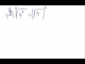 Potencia de exponente fraccionario