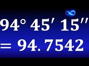 Cómo convertir grados, minutos y segundos a grados