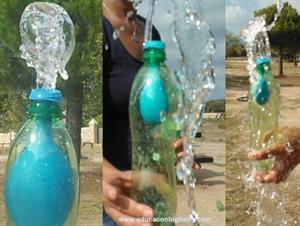 Experimento de presión del aire: infla un globo dentro de una botella