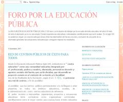 Red de centros públicos de éxito para todos | Foro por la Educación Pública