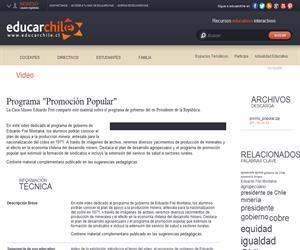 """Programa """"Promoción Popular"""" (Educarchile)"""
