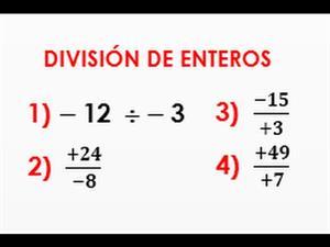 Division de numeros enteros