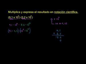 Notación científica ejemplo 2 (Khan Academy Español)