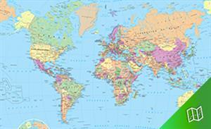 Mapa político del mundo escala  1:60.000.000