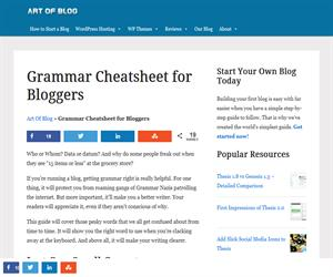 Grammar Cheatsheet for Bloggers. Avoiding Classic Embarrassments (Art of Blog)