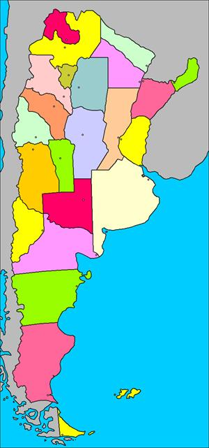 Mapa interactivo de Argentina: provincias y capitales (luventicus.org)