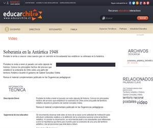 Soberanía en la Antártica 1948 (Educarchile)