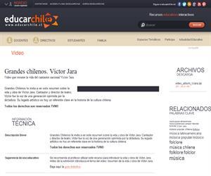 Grandes chilenos. Víctor Jara (Educarchile)