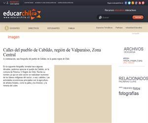 Calles del pueblo de Cabildo (Educarchile)
