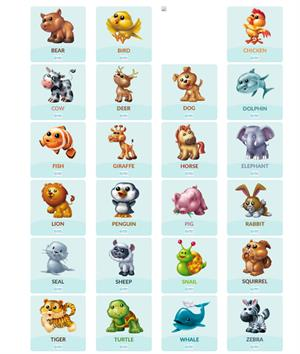 Animals. Animales en inglés (Smile And Learn)
