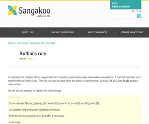 Ruffini's rule