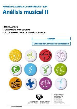 Examen de Selectividad: Análisis musical. País Vasco. Convocatoria Junio 2014