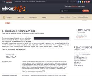 El aislamiento cultural de Chile (Educarchile)