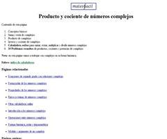 Calculadora online: multiplicar y dividir números imaginarios (forma binómica)