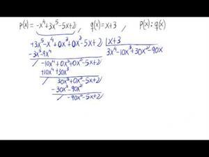 División de polinomios. (Algoritmo inicial y Ruffini)