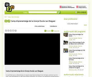 Camp d'Aprenentatge de la Granja Escola Les Obagues (Edu3.cat)