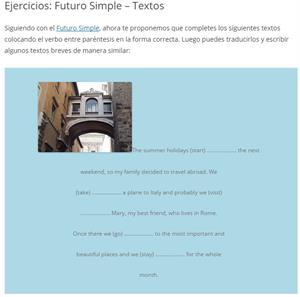 Futuro Simple - Textos (aprenderinglesfacil)