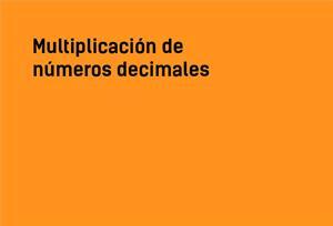 Multiplicación de números decimales #YSTP