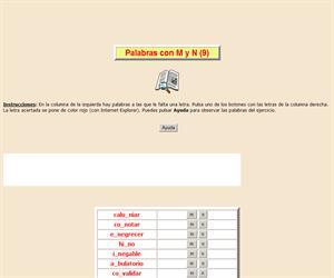 Palabras con M y N (IX), ortografía interactiva