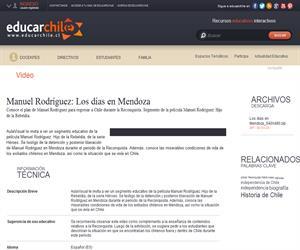 Manuel Rodríguez: Los días en Mendoza (Educarchile)