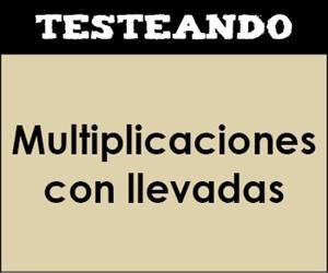 Multiplicaciones con llevadas. 3º Primaria - Matemáticas (Testeando)