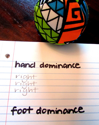 Handedness and Footedness Test